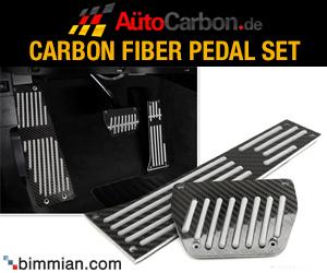 AutoCarbon Carbon Fiber Pedal Set for BMW