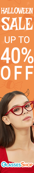 Halloween Sale! Buy more save more, 40% off on orders over $219 with code OCT40 at GlassesShop.com - Offer ends 11/5