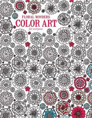 Floral Wonders Adult Coloring Book