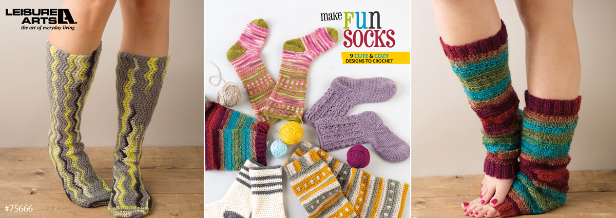 fun socks to crochet