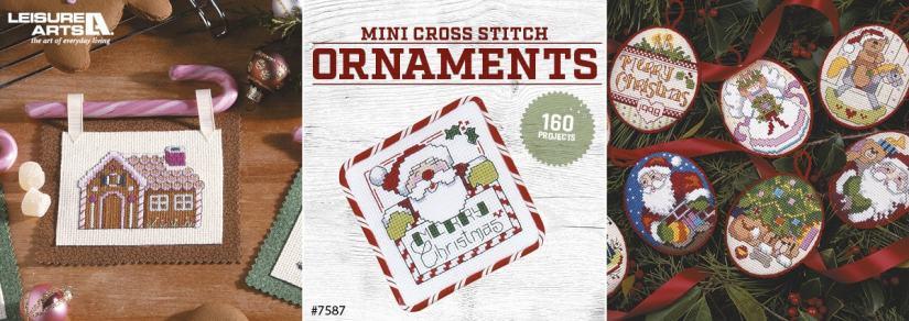 Mini Cross Stitch Ornaments - 160 Projects
