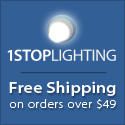 Free Shipping on ALL Orders Over $49 at 1STOPLighting.com