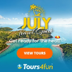 Get Ready for the Heat! Check our Tours4Fun's July Travel Guide!