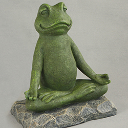 Meditating Garden Yoga Frog Statue