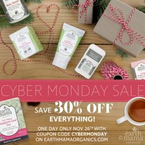 Earth Mama Organics Cyber Monday