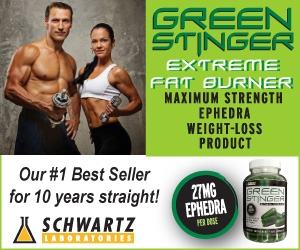 Green Stinger Thermogenic with Ephedra from Schwartz Labs