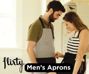 Flirty aprons for men