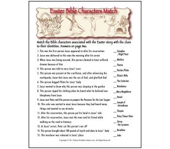 Printable Bible Games Trivia Church Sunday School Games