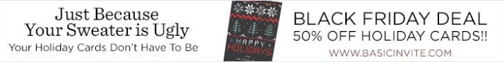 Save 50% On All Holiday Cards
