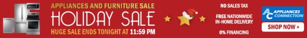 65% off on Appliances and Furniture at Holiday Sale