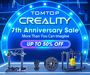 Up to 50% OFF Creality Items Sale @tomtop.com