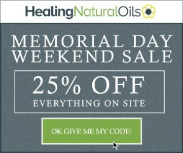 Save 25% off all Healing Natural Oil products