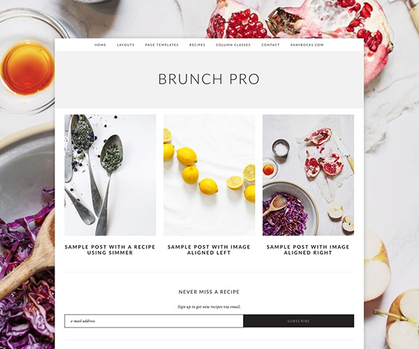 Brunch: A Genesis Child Theme for Food & Lifestyle Bloggers