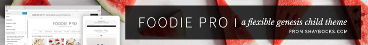 StudioPress Premium WordPress Themes: Foodie Pro Theme