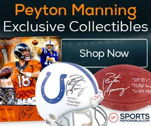 Take Home a Piece of H18TORY - Shop for Exclusive Autographed Peyton Manning Collectibles at SportsMemorabilia.com