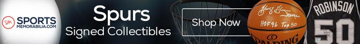 Shop for Authentic Autographed Spurs Collectibles at SportsMemorabilia.com