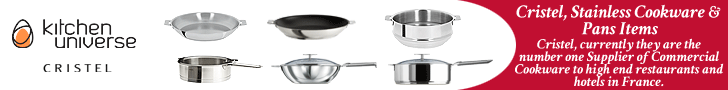 Cristel, Stainless Cookware & Pans Items