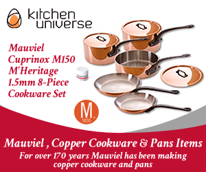 Mauviel Cuprinox M150 M'Heritage 1.5mm 8-Piece Cookware Set - Cast Iron Handles