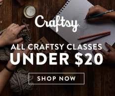 All Craftsy Classes Under $20 at Craftsy.com 11/9-11/11/18.
