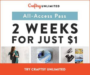 2 Weeks Craftsy Unlimited For $1 6/20 - 6/23/18 at Craftsy.com