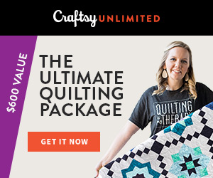 The Ultimate Quilting Package - Only $120 at Craftsy.com! Get a year of Craftsy Unlimited, a free quilt kit and tons of perks, all for only $120!