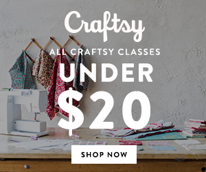 All Craftsy Classes Under $20 at Craftsy.com 3/8-3/11/18.