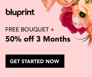 50% Off 3 Months Bluprint + A Flower Bouquet through 5/11/19.