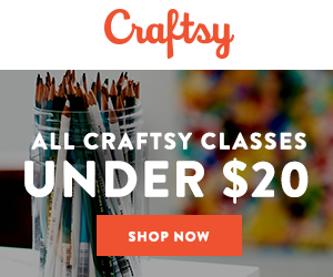 Sale! ALL Craftsy Classes Under $20 at Craftsy.com 9/7-9/9/18.