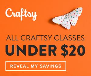 All Craftsy Classes Under $20 at Craftsy.com through 10/21/18.