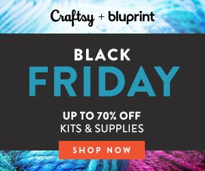 Craftsy Black Friday / Cyber Monday - Up to 70% Off Kits & Supplies at Craftsy.com 11/21 at 2:00pm MST through 11/26/18.