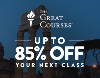 The Great Courses Sale - Up To 85% Off Your Next Class 9/28 - 9/30/18 at Craftsy.com. No coupon code needed.