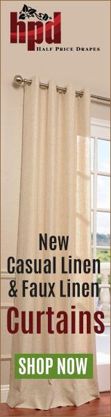 New Casual Linen & Faux Linen Curtains