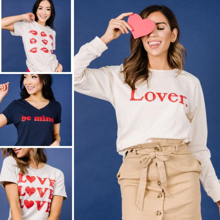 Graphic Sweatshirt, Valentine's Day,