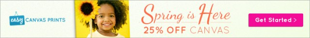25% off any size Gallery Wrapped Canvas Print + FS