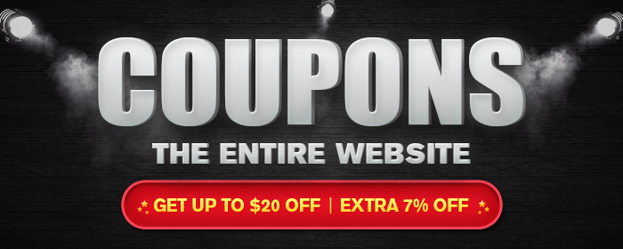 2016 Black Friday Coupon - 7% OFF & Up to $20 OFF