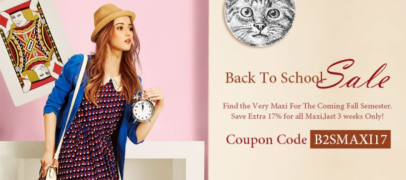 Save Extra 17% for all Maxi