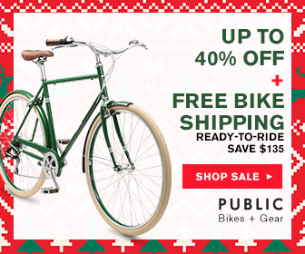 Up to 40% Off All Bikes at PUBLIC Bikes. Save on stylish commuter bikes at PUBLIC. A bike is the best holiday gift. No offer code necessary.
