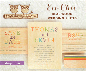 Eco Chic Real Wood Wedding Suites by Night Owl Paper Goods