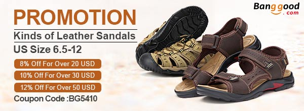 Leather sandals - Banggood