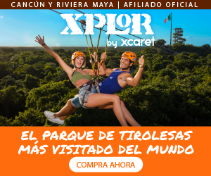 Parque Xplor aventuras en cada rincón con tirolesas, anfibio, balsas y rios subterraneos, incluye comida buffet en Cancun, Playa del Carmen.