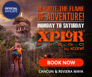Xplor Fuego Park EN At night everything gets better enjoy zip lines, amphibious, rafts & underwater rivers, buffet meal included. Save up to 15% Off presale.