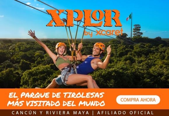 Deslizate por las tirolesas mas altas, explora la jungla maya en divertidos vehículos anfibios y disfruta de comida y bebidas ilimitadas en el buffet