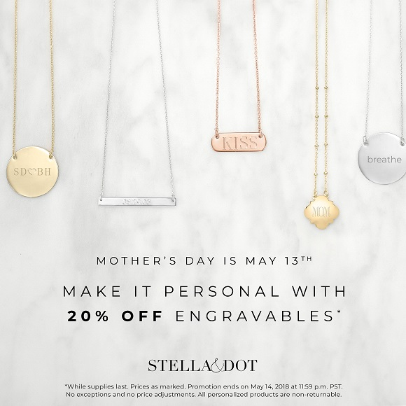 Buy and save on engravable jewelry gift idea