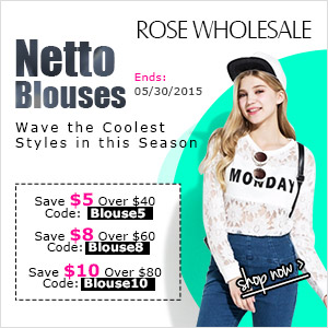 Women's Blouses Sale: Save Up to $10 at Rosewholesale! (Ends: 05/30/2015)