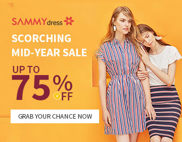 Enjoy 75% OFF @sammydress.com