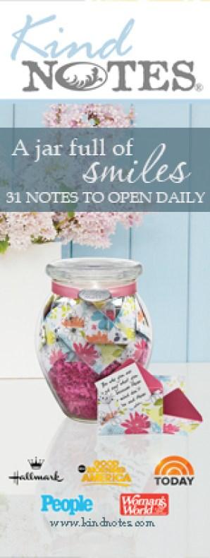 Jar of Messages in Mini Envelopes