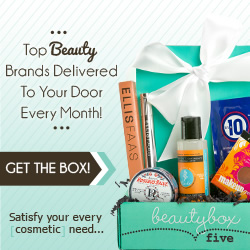 Get top beauty brands delivered to your door every month with Beauty Box 5. Click Here!