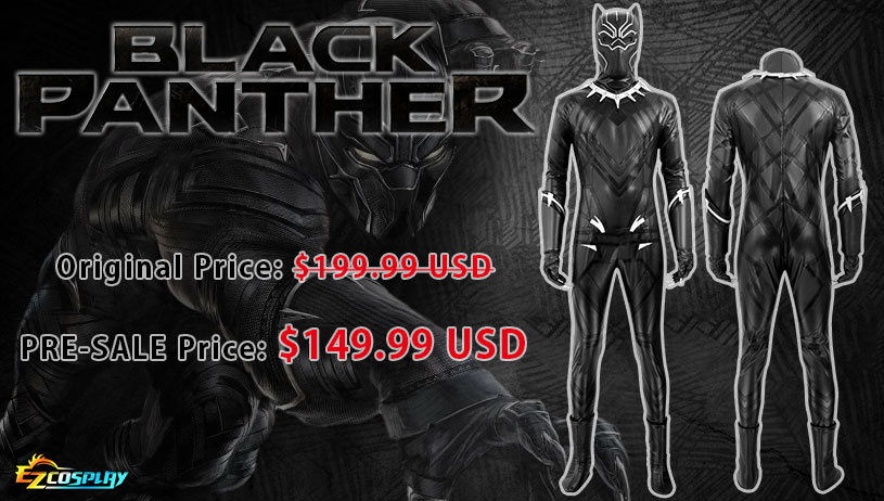 Marvel Captain America: Civil War Black Panther T'Challa Cosplay Costume(PRE-SALE)