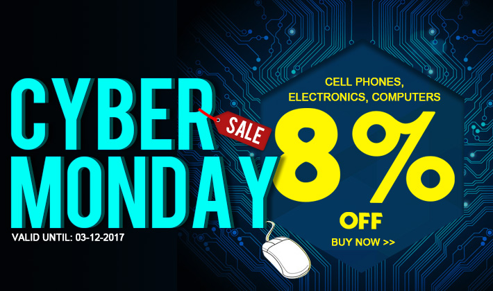 Cyber Monday is here! 8% Off Electronics Sale!
