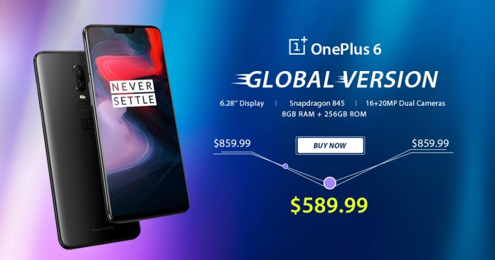 OnePlus 6 Global Version 31% off